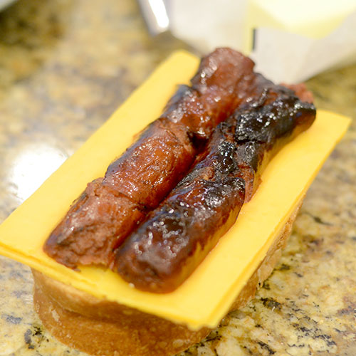 Sausage Added to Cheese