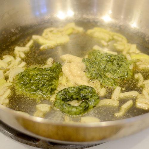 Stir-in-Paste in Pan
