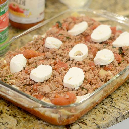 Meat & Fresh Mozzarella Added