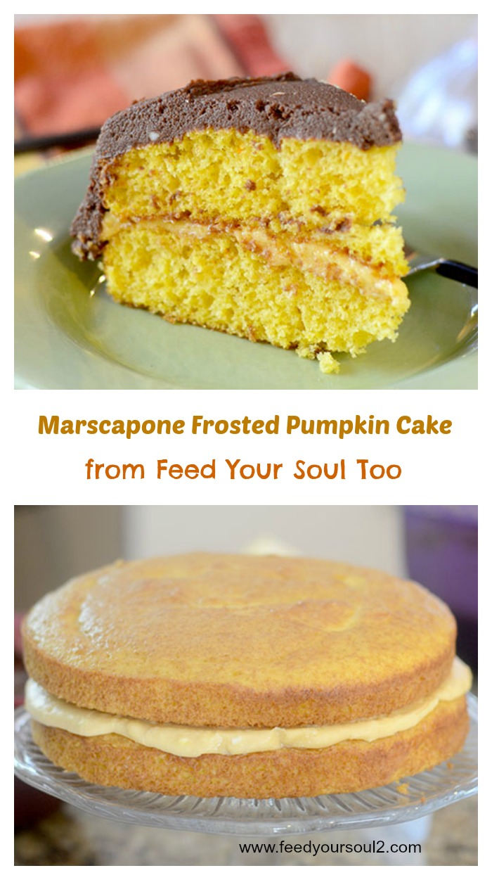 Marscapone Frosted Pumpkin Cake
