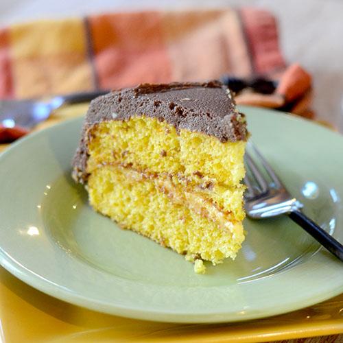 Marscapone Frosted Pumpkin Cake #dessert #cake #pumpkin | feedyoursoul2.com