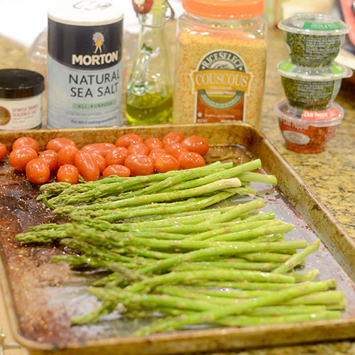 Asparagus, Tomatoes and Spices