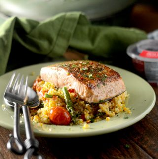 Za'atar Salmon with Cous Cous
