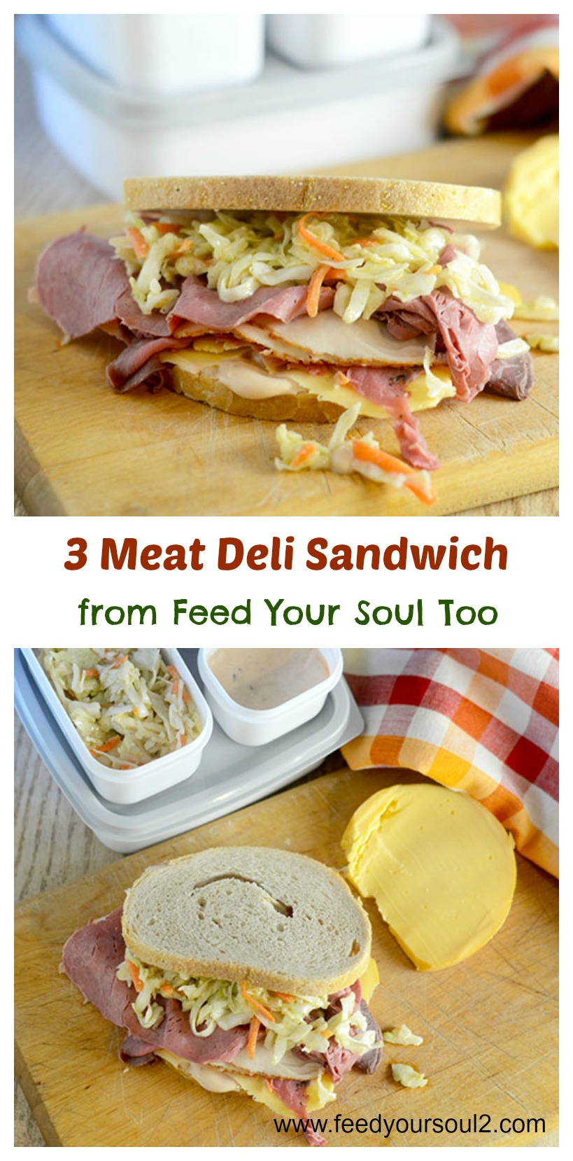 3 Meat Deli Sandwich