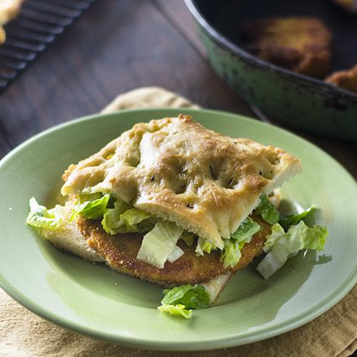 """Chicken Sandwich Milanese on Focaccia #chicken #milanese #focaccia / feedyoursoul2.com"""