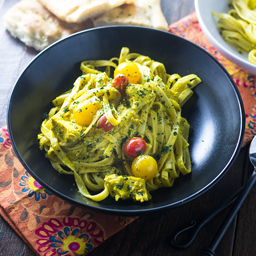"""Yellow Curry Pasta #curry #pasta / feedyoursoul2.com"""