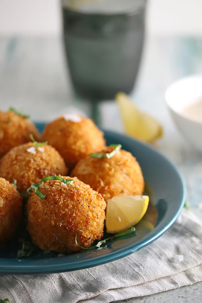 Cajun Crab Croquettes Cooks with Cocktails Feed Your Soul Too