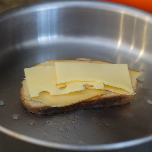 Cheese and Bread in Skillet