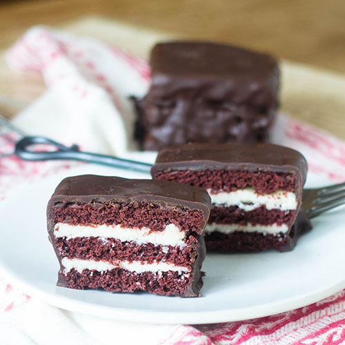 """Red Velvet Layered Ding Dong #chocolate #dessert #redvelvet #Dingdong 