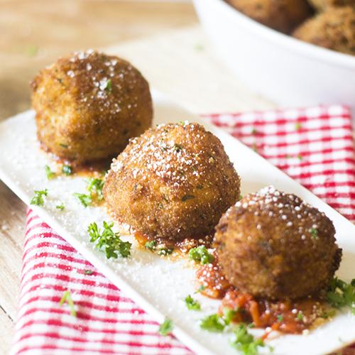 """Arancini Recipe #risotto #arancini #breaded / feedyoursoul2.com"""