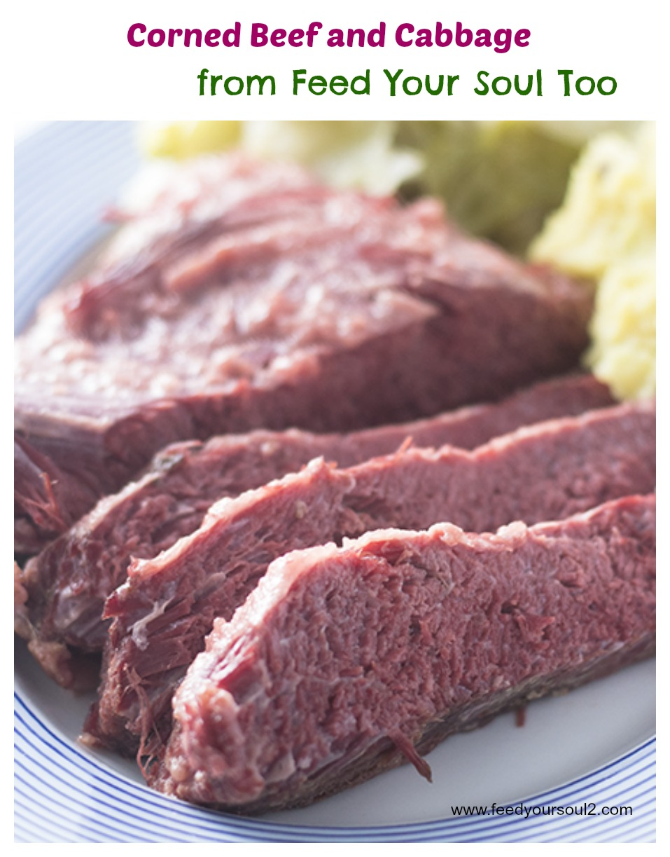 """""""Corned Beef and Cabbage #cornedbeef #cabbage #Stpatricksday / feedyoursoul2.com"""""""