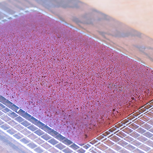 Red Velvet Cake Out of Pan