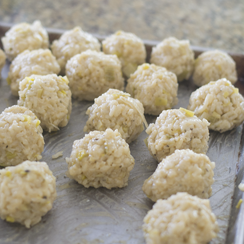 Risotto Balls on Trays