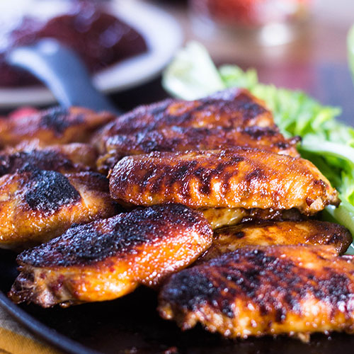"""Chipotle Baked Chicken Wings #wings #baked #chipotlepeppers / feedyoursoul2.com"""