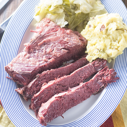 """Corned Beef & Cabbage #cornedbeef #cabbage #Stpatricksday / feedyoursoul2.com"""