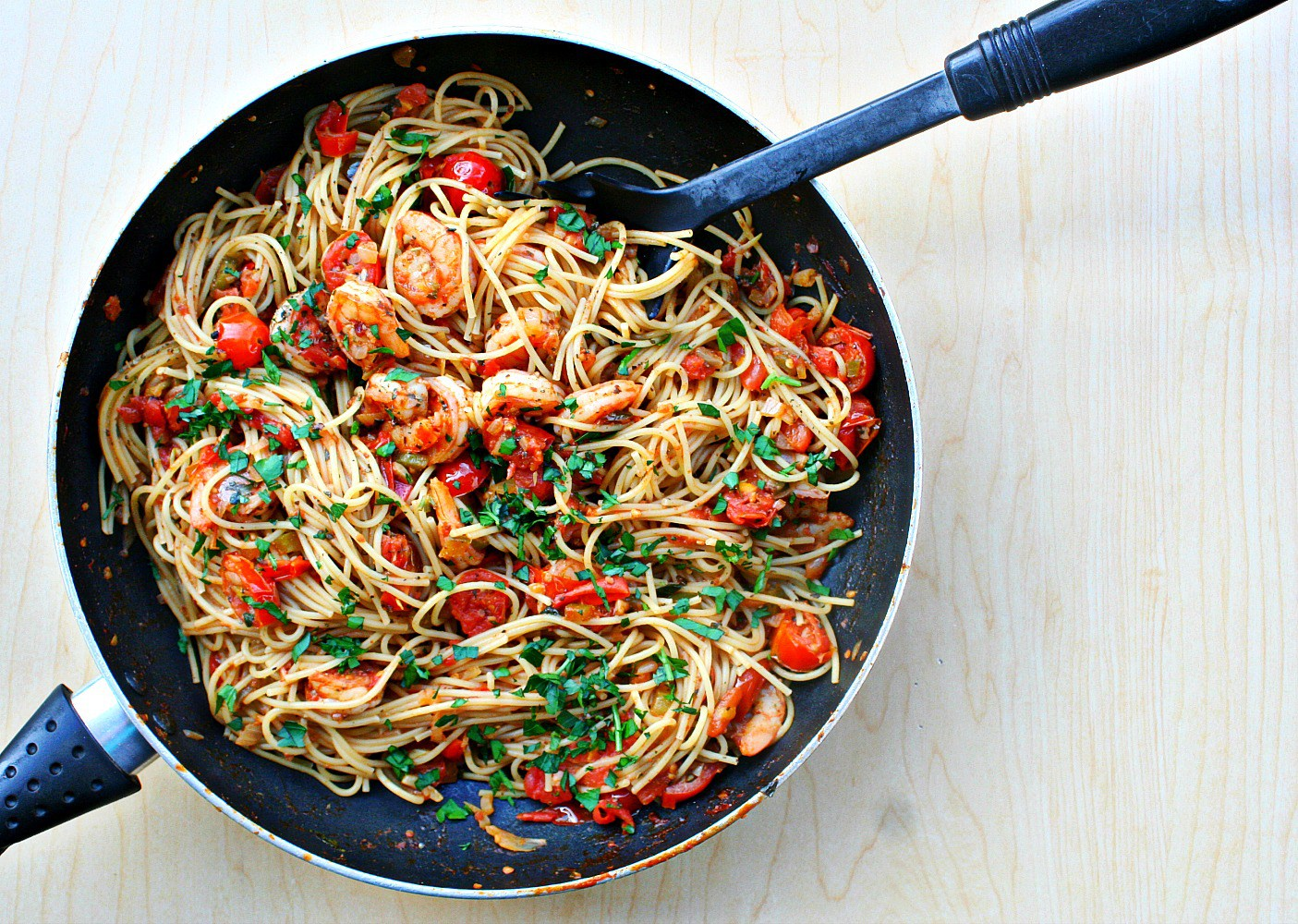 Spicy Cajun Shrimp Pasta Killing Thyme Feed Your Soul Too