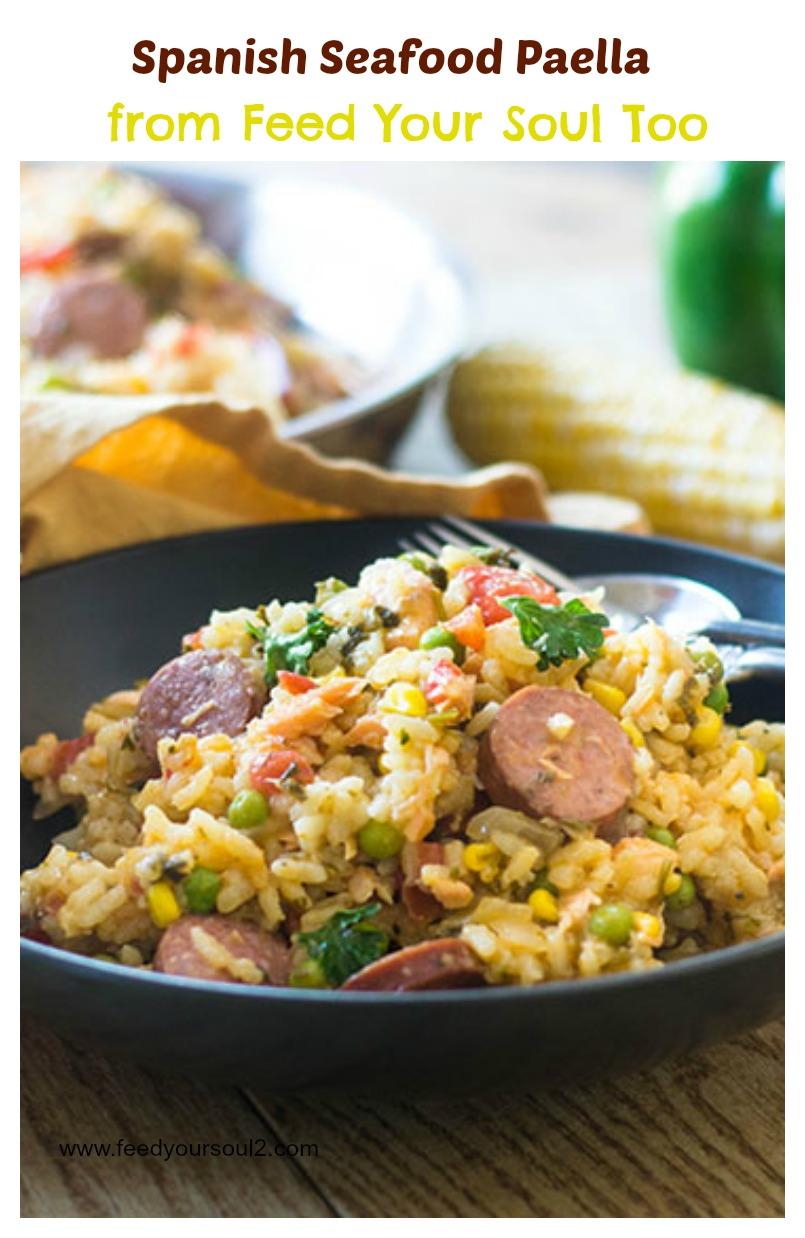 """Spanish Seafood Paella #seafood #Spanish #paella | feedyoursoul2.com"""