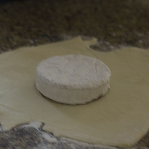 Brie Added to Pastry