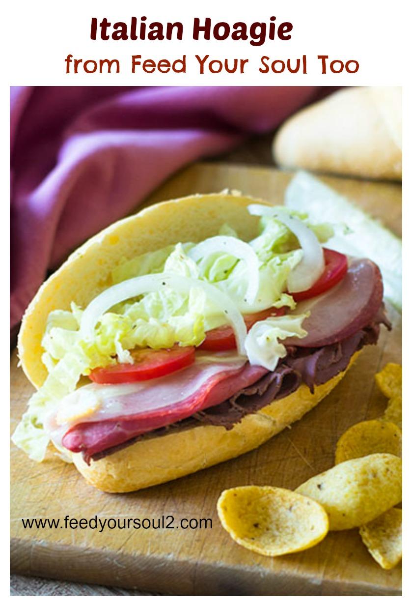 Italian Hoagie Sandwich #Hoagie #Italian #sandwich | feedyoursoul2.com