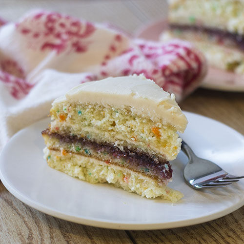 Funfetti Layer Cake from Feed Your Soul Too