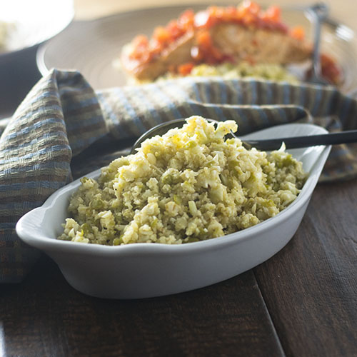 Riced Cauliflower from Feed Your Soul Too