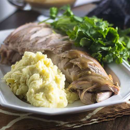 Roast Turkey with Stout Gravy from Feed Your Soul Too
