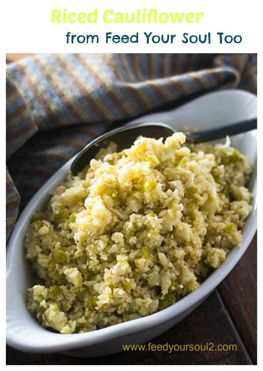 Riced Cauliflower #cauliflower #glutenfreel #lentils | feedyoursoul2.com