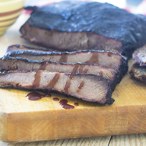 Smoked Beef Brisket from Feed Your Soul Too