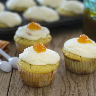 Ricotta Cupcakes with Marmalade Buttercream Frosting