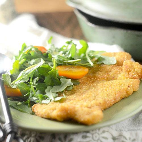 Chicken Milanese from Feed Your Soul Too