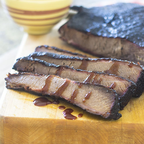 Smoked Beef Brisket #beef #brisket #smoker | feedyoursoul2.com