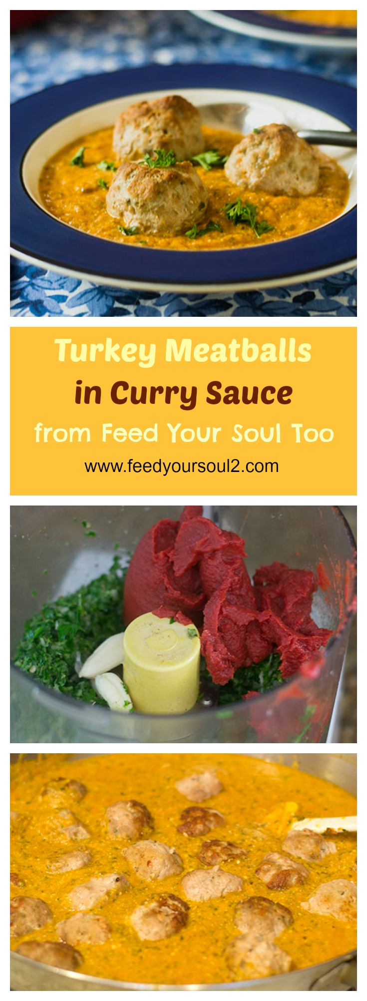 Turkey Meatballs in Curry Sauce #groundturkey #Indianfood #curry | feedyoursoul2.com