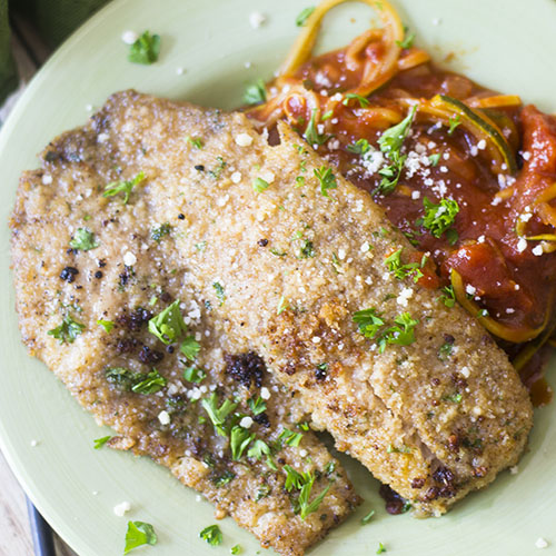 Parmesan Crusted Tilapia #seafood #parmesan #crusted | feedyoursoul2.com
