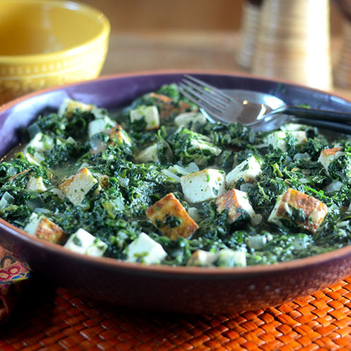 Saag Paneer from Feed Your Soul Too