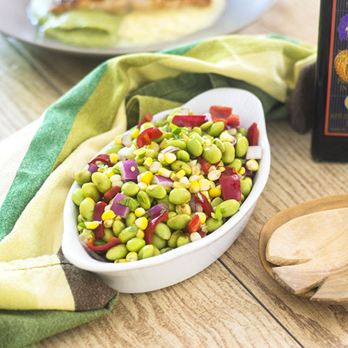Edamame Corn Salad #edamame #salad #corn | feedyoursoul2.com