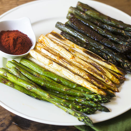 Smoky Tri-Color Asparagus from Feed Your Soul Too