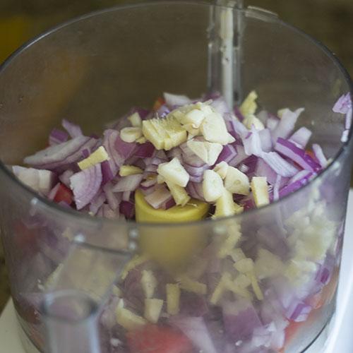 Vegetable Ingredients in Blender