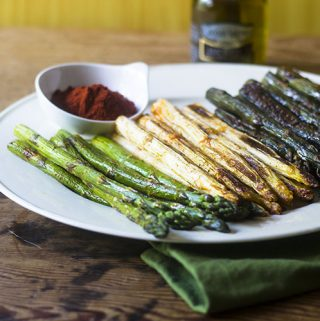 Smoky Tri-Color Asparagus