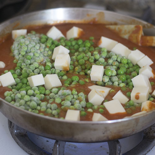Peas & Paneer Added