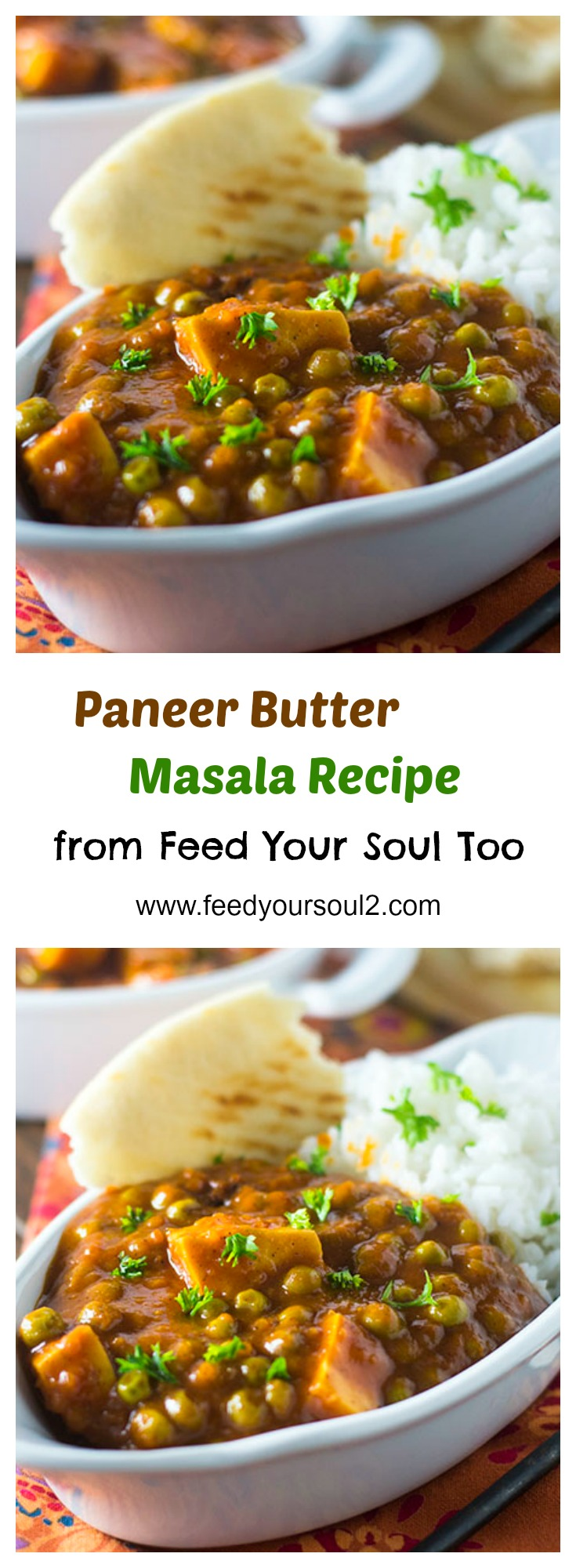 Paneer Butter Masala Recipe #vegetarian #Indian #paneer | feedyoursoul2.com