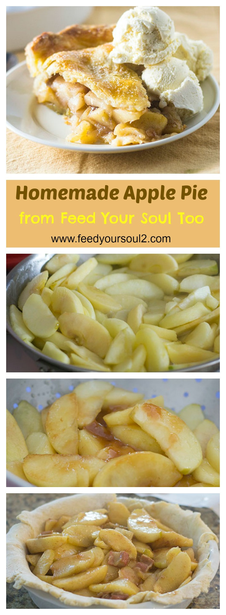 Homemade Apple Pie #dessert #apples #piecrust | feedyoursoul2.com