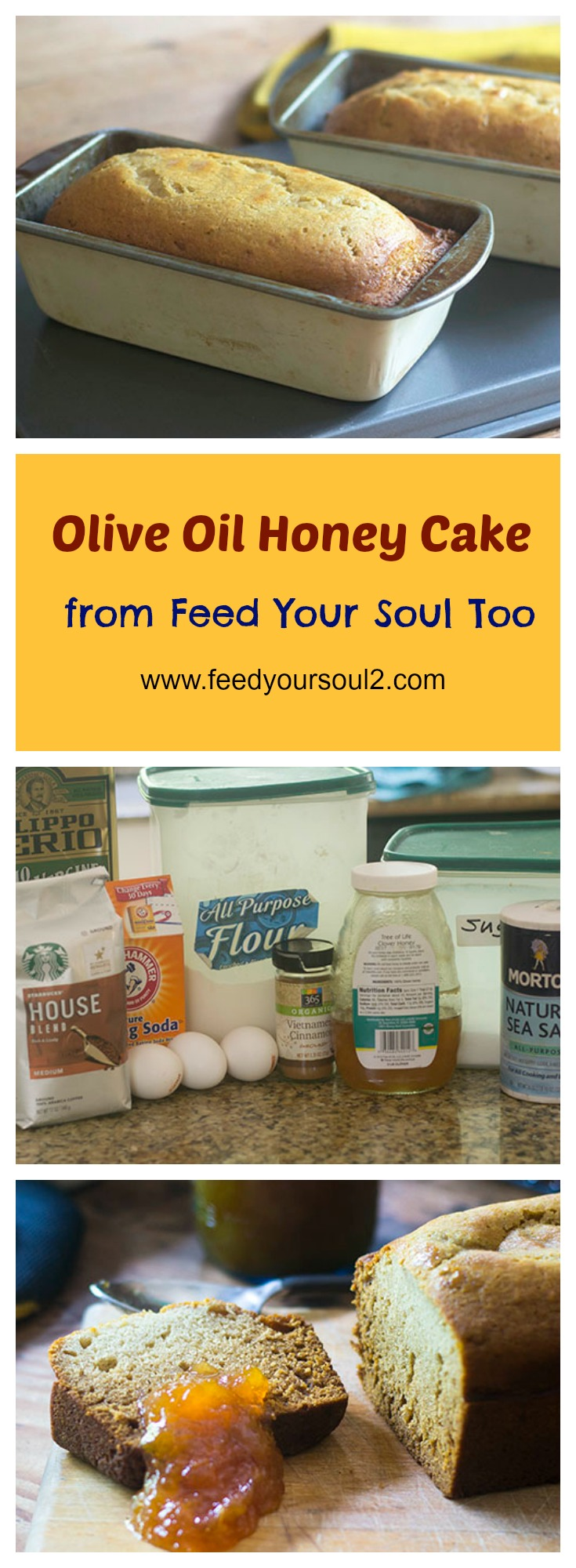 Olive Oil Honey Cake #cake #holiday #honey | feedyoursoul2.com