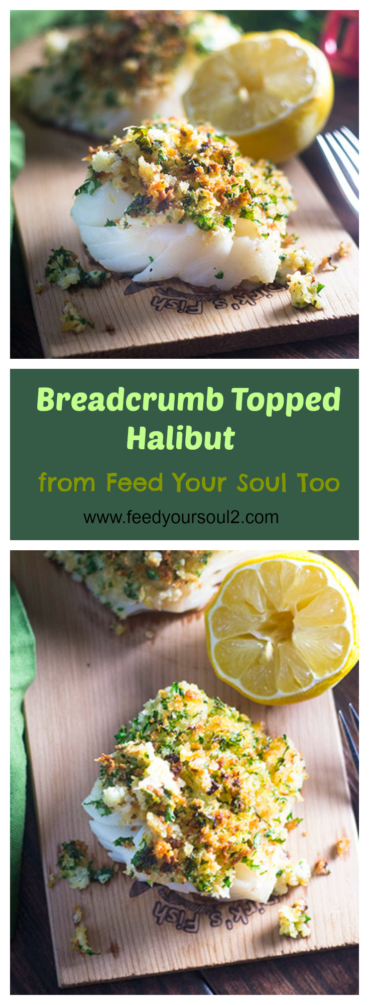 Breadcrumb Topped Halibut #seafood #breadcrumbs #ovenbaked   feedyoursoul2.com