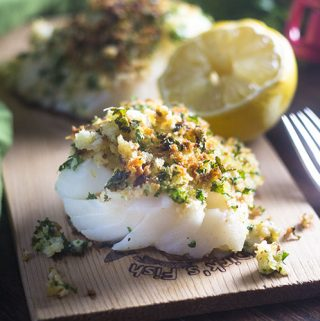 Breadcrumb Topped Halibut