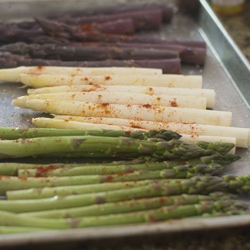 Spice Added to Asparagus