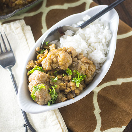 Indian Spiced Cauliflower #vegetarian #Indian #cauliflower | feedyoursoul2.com