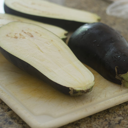 Eggplant Sliced Horizontally