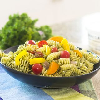 15 Minute Healthy Pesto Pasta