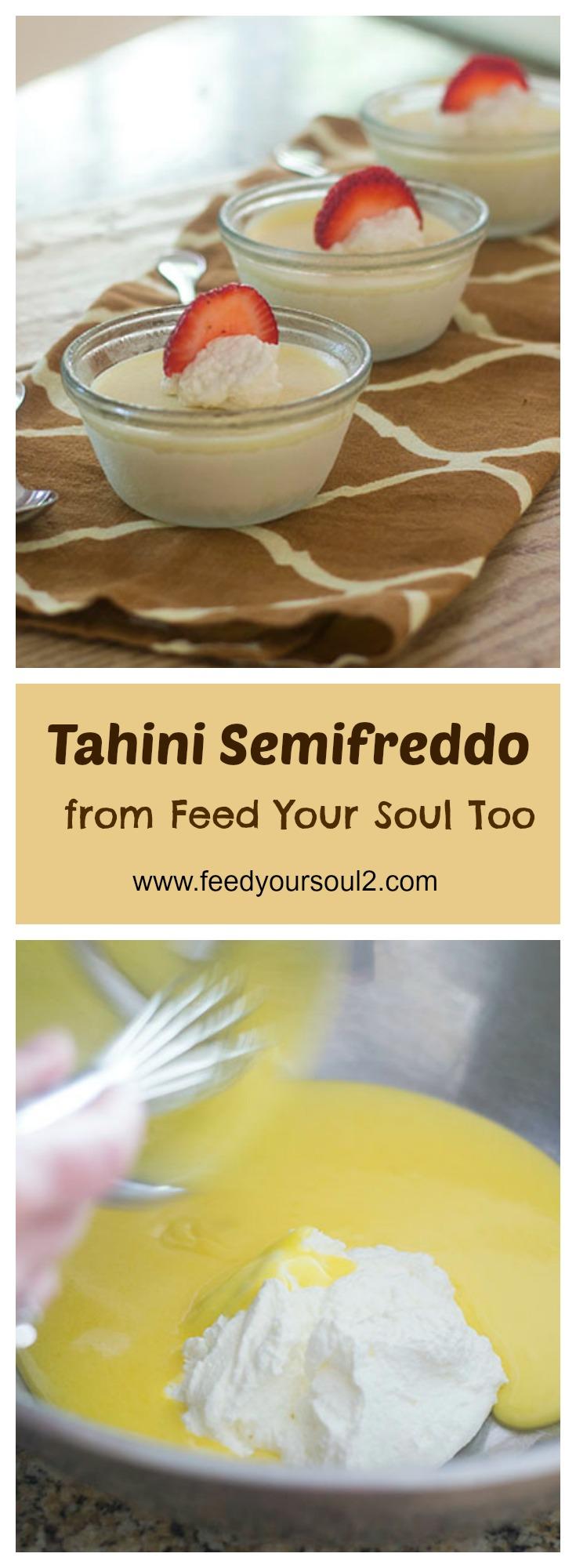 Tahini Semifreddo #tahini #ldessert #middleeasternfood | feedyoursoul2.com