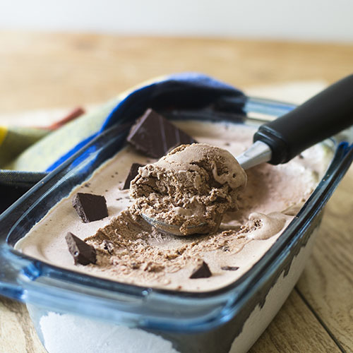 No Churn Chocolate Ice Cream from Feed Your Soul Too